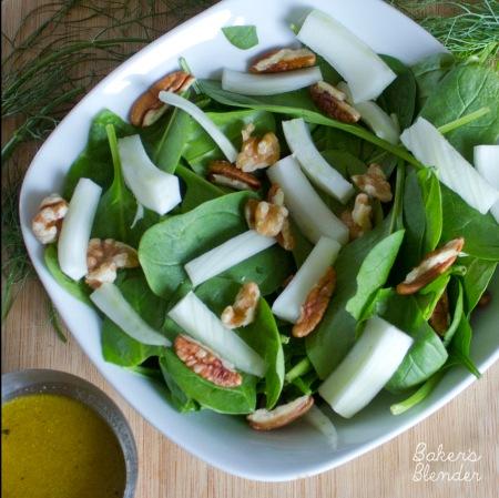 spinach fennel salad